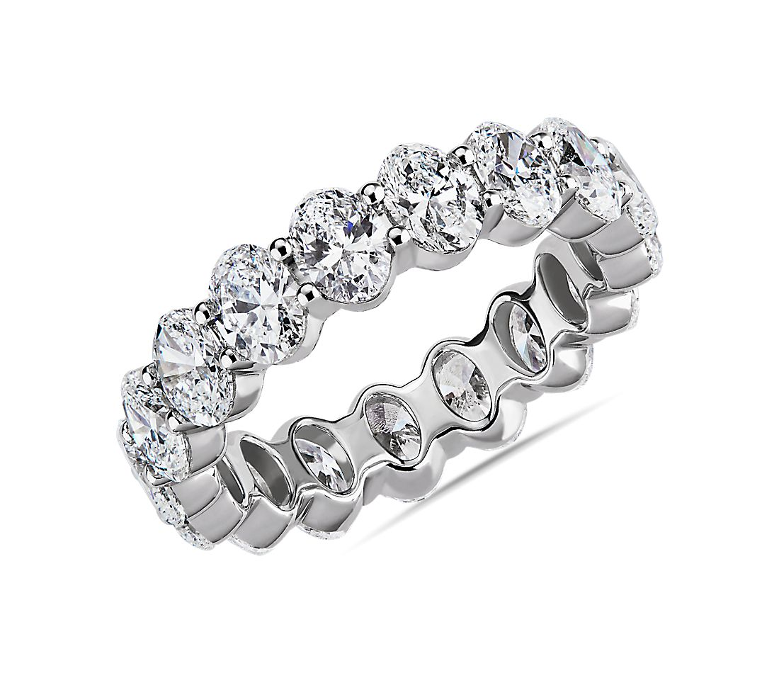 Oval Cut Diamond Eternity Ring in Platinum (2.90 ct. tw.)