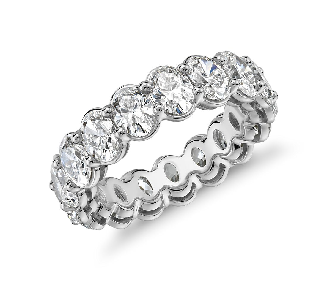 Oval Cut Diamond Eternity Ring in Platinum (5.0 ct. tw.)
