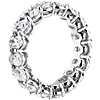 Oval Cut Diamond Eternity Ring in Platinum (4.95 ct. w)