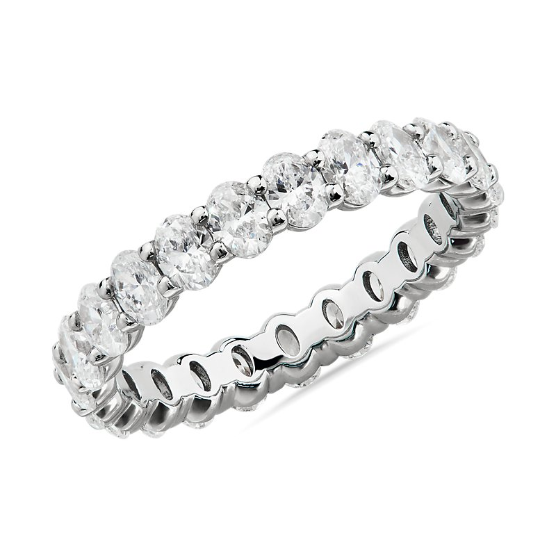 Oval Cut Diamond Eternity Ring in Platinum (2.0 ct. tw.)