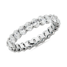 NEW Oval Cut Diamond Eternity Ring in Platinum (2.0 ct. tw.)