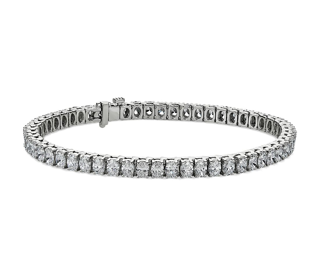 Oval-Cut Diamond Tennis Bracelet in 18 White Gold (8 3/4 ct .tw.)