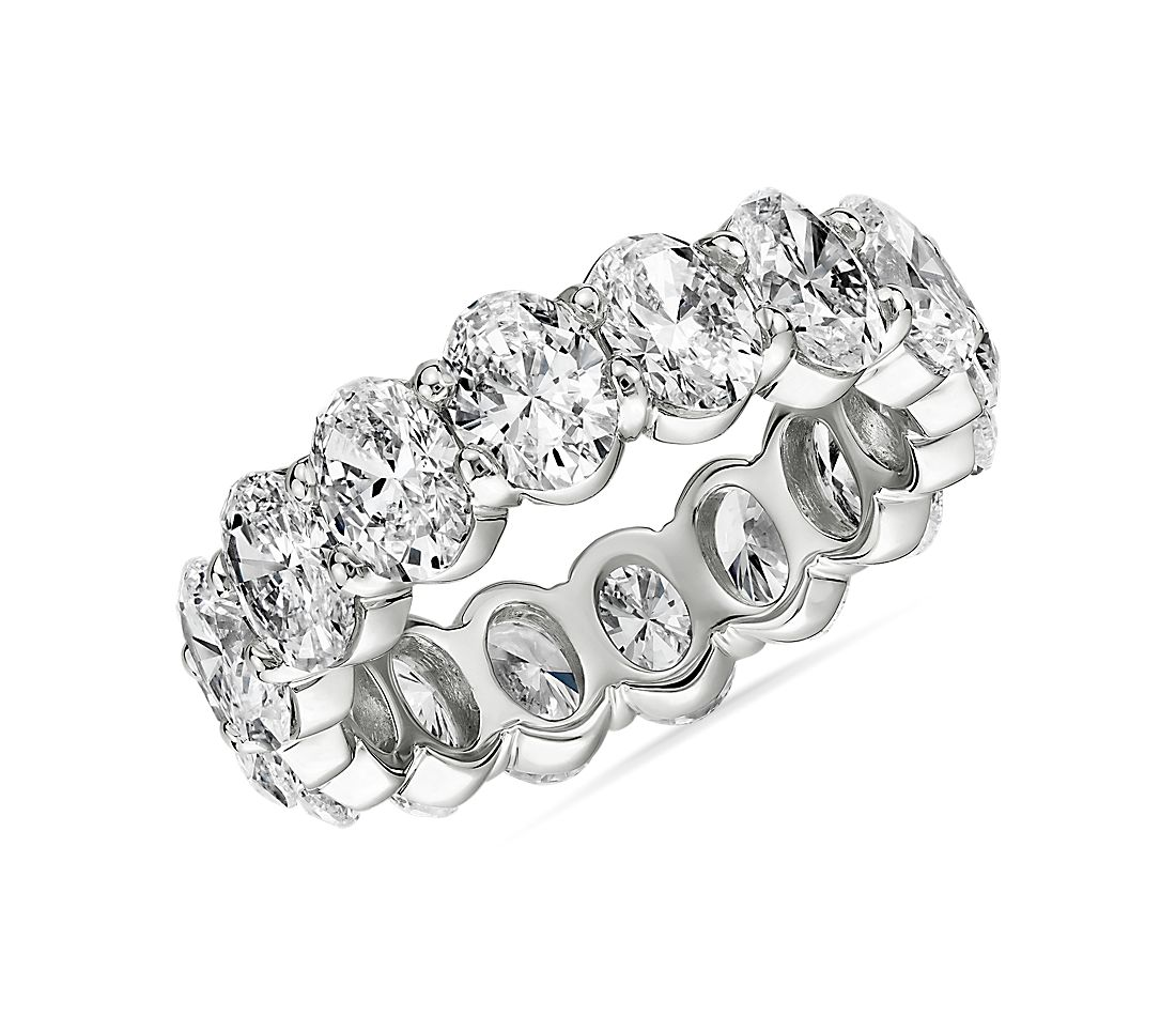 Oval Diamond Eternity Ring in Platinum