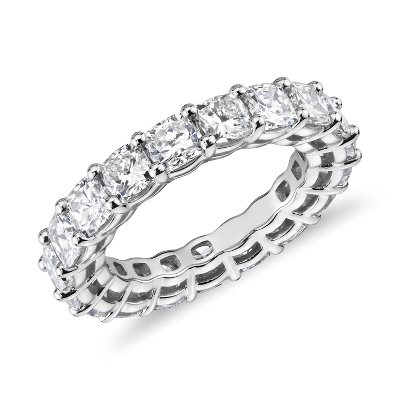 NEW Cushion-Cut Diamond Eternity Ring in Platinum (5.5 ct. tw.)