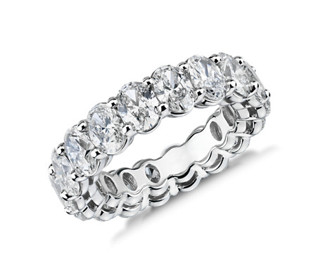 Oval-Cut Diamond Eternity Ring in Platinum (5.5 ct. tw.)