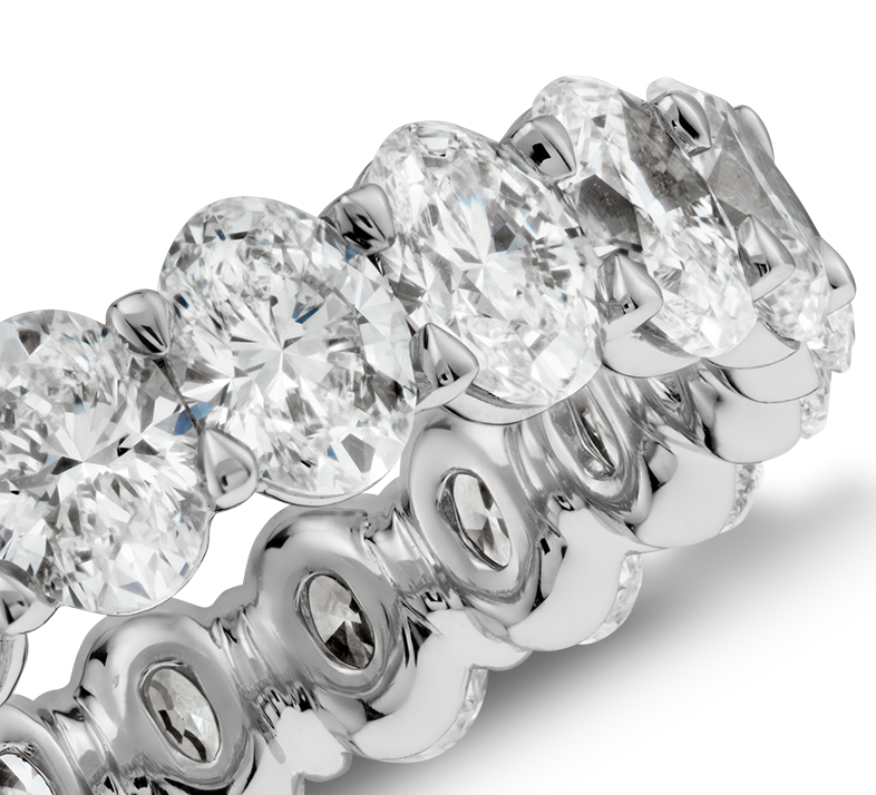 Oval Diamond Eternity Ring in Platinum (4 ct. tw.)
