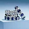 primera vista alternativa de Anillo de eternidad con diamantes de talla ovalada en platino- G/SI1 (5,5 qt. total)