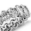 Oval Diamond Eternity Ring in Platinum (4.50 ct. tw.)