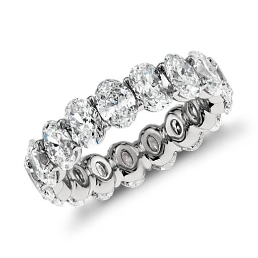 Oval Diamond Eternity Ring In Platinum 5 00 Ct Tw