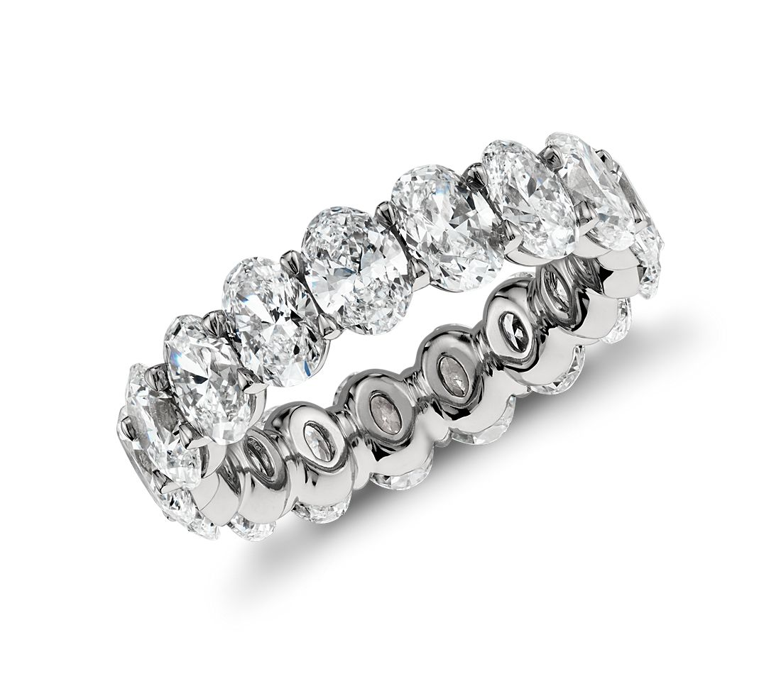 Oval Diamond Eternity Ring In Platinum (5.00 Ct. Tw