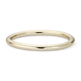 NEW Bold Oval Hinge Bangle Bracelet in 14k Yellow Gold