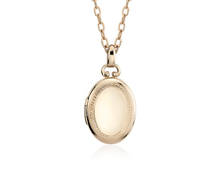 Oval beaded locket in 14k yellow gold blue nile oval beaded locket in 14k yellow gold aloadofball Images