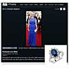 Oval Sapphire and Diamond Ring - As Seen On Penelope Ann Miller