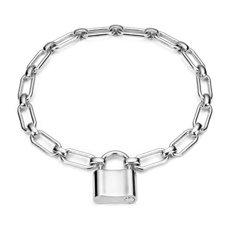 Padlock Bracelet in Sterling Silver