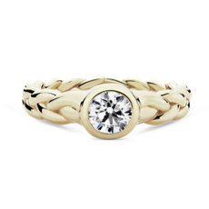 NEW Pamela Love 'Treccia Ring' Diamond Engagement Ring in 18k Yellow Gold