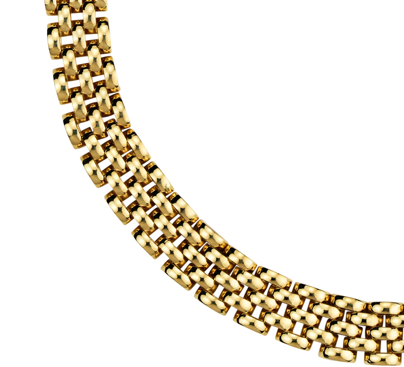 Collier panthère en or jaune 14carats