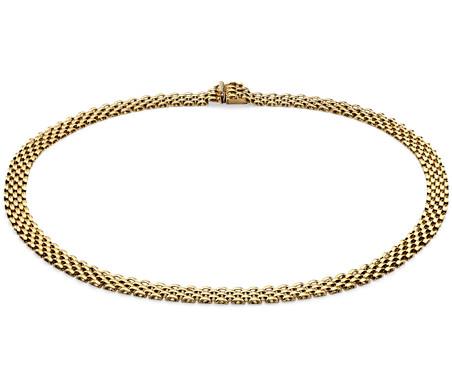 14k 金黑豹项链