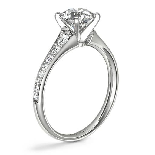 Graduated Pavé Diamond Engagement Ring