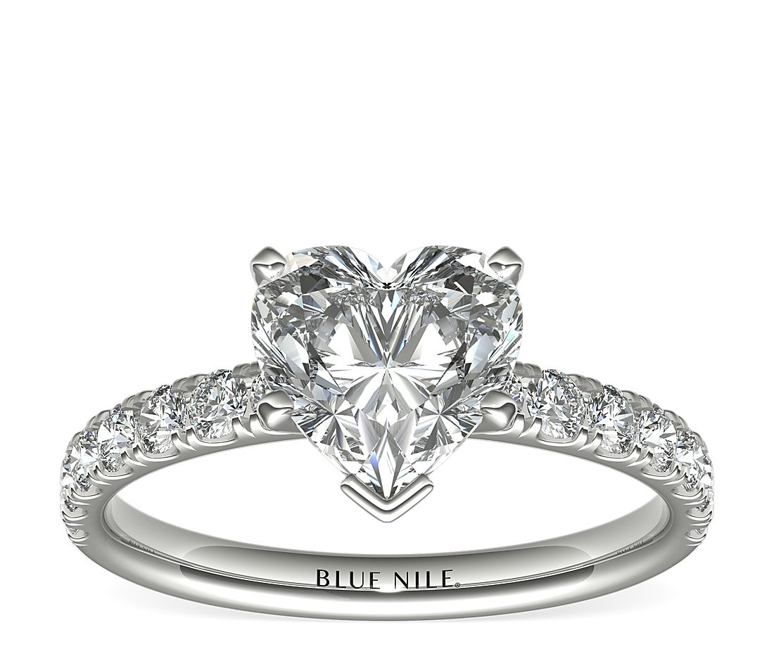 2.01ct.HS in Scalloped Engagement 18k WG 2/5 CTW