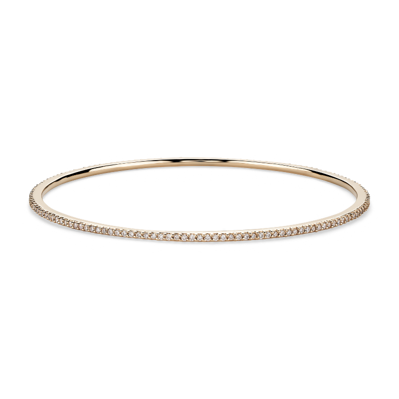 Stackable Pavé Diamond Bangle in 18k Yellow Gold (1 ct. tw