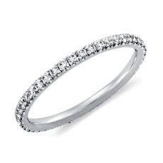 Pavé Diamond Eternity Ring in 14K White Gold