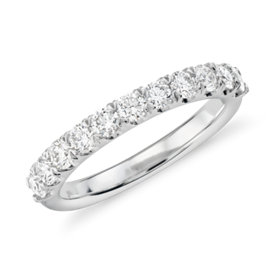 Pavé Diamond Ring in 18k White Gold - H / VS2  (2/3 ct. tw.)