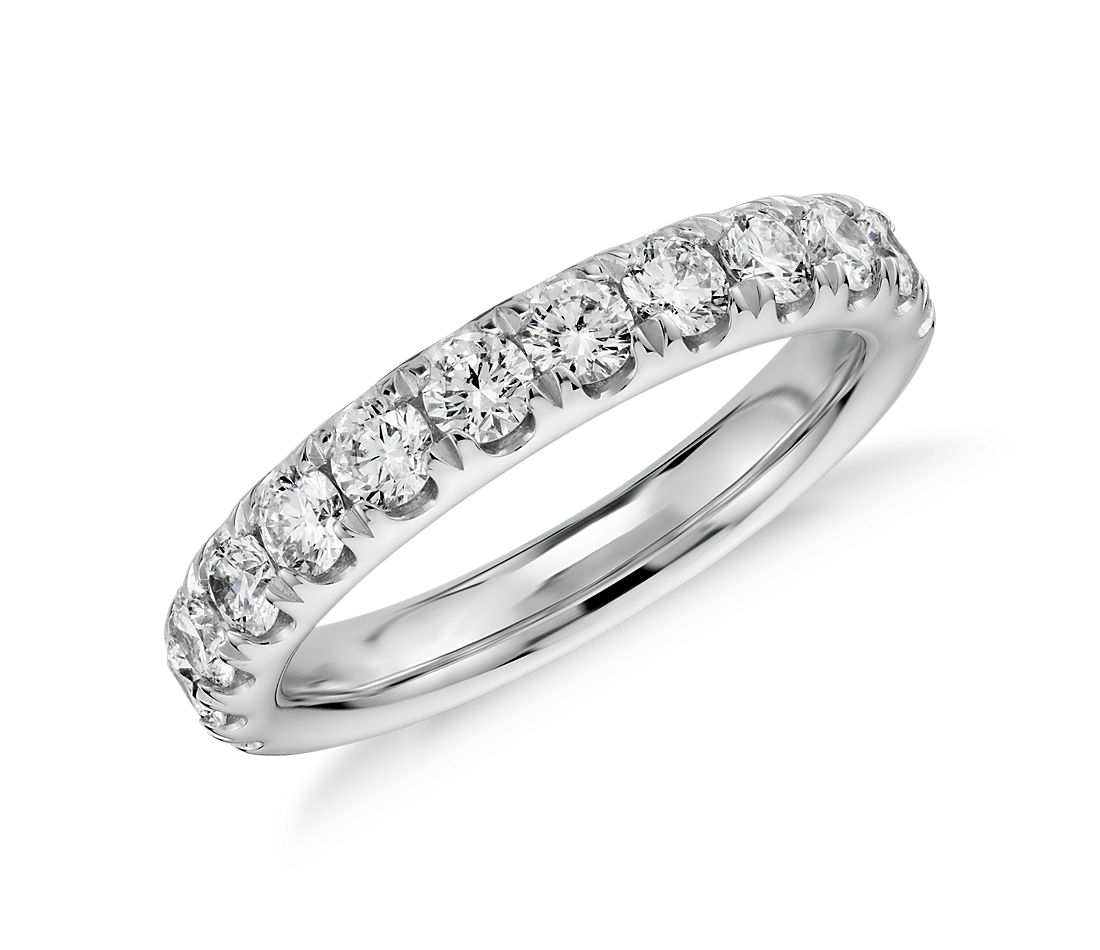 Pavé Diamond Ring in 14k White Gold (1 ct. tw.)