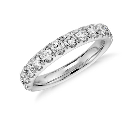 Bague en diamants sertis pavé en or blanc 14 carats