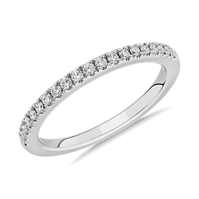 NEW Pavé Diamond Wedding Ring in Platinum (1/5 ct. tw.)