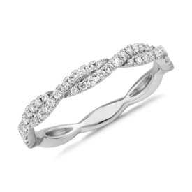 NEW Pavé Twist Diamond Ring in 14k White Gold (1/4 ct. tw.)