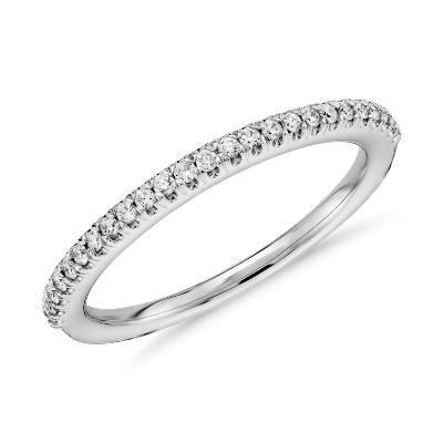 Pav Diamond Wedding Ring in 14k White Gold 16 ct tw Blue Nile
