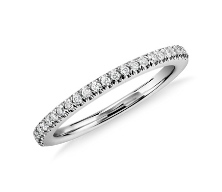 Pavé Diamond Wedding Band in Platinum
