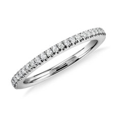 Pavé Diamond Wedding Ring In Platinum 1 6 Ct Tw