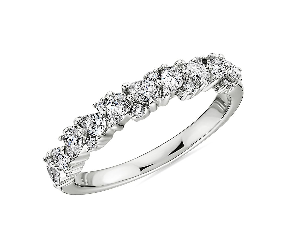 Pear Diamond Cluster Wedding Ring in 14k White Gold- I/SI2 (0.45 ct. tw.)