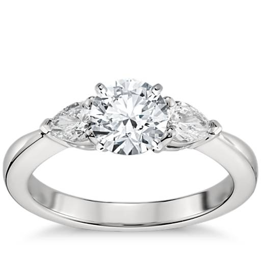 Classic Pear Shaped Diamond Engagement Ring In Platinum 1