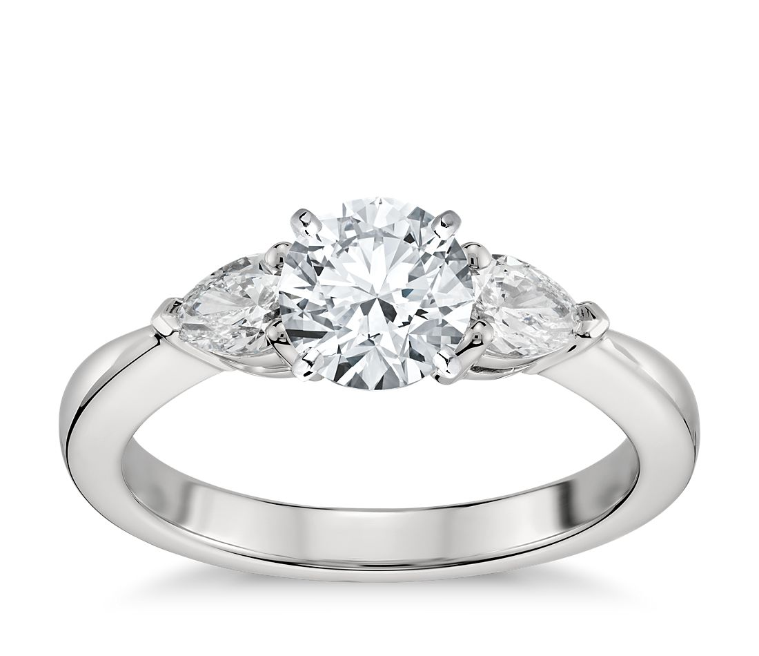 40c8a76f0c5c Classic Pear Shaped Diamond Engagement Ring in Platinum (1 2 ct. tw.)