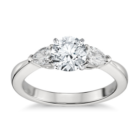 wedding rings shaped pear diamond engagement