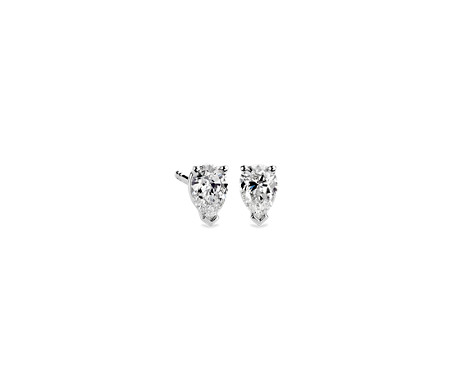 cut shaped gold earrings jewelry stud diamonds sku white diamond with pear halo