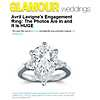 Classic Pear Shaped Diamond Engagement Ring in 14k White Gold featured in Glamour.com