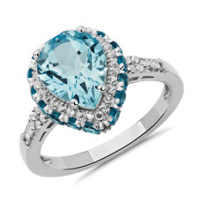 NEW Pear Shaped Sky Blue Topaz Ring in Sterling Silver