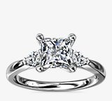Pear Sidestone Diamond Engagement Ring