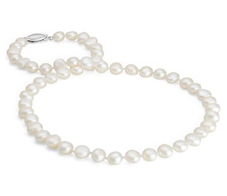 Collier de perles de culture d'eau douce baroques (45,72cm de long)