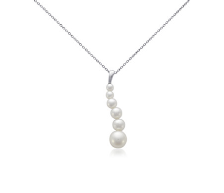 Blue Nile Pink Freshwater Cultured Pearl Floating Pendant in 14k White Gold (7.5-8 mm) FLFz9cJG