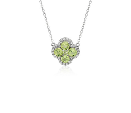 Blue Nile Peridot Cushion Pendant in Sterling Silver (8mm) QV7ogTi