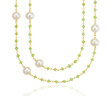 pacific bracelet treasure pearl necklace collection island and set product peridot versatile pearls