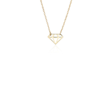 gold toggle polished obv product cut necklace strand heart diamond