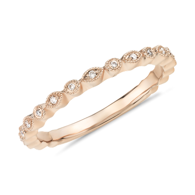 Petite Diamond Dot Ring in 14k Rose Gold Blue Nile