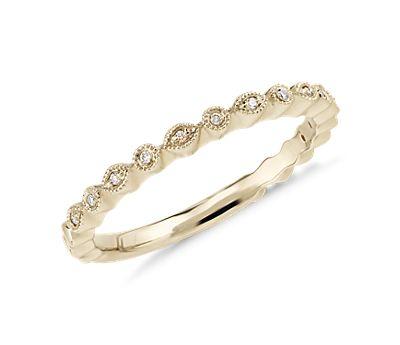 Petite Diamond Dot Ring in 14k Yellow Gold