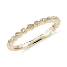 NEW Petite Diamond Dot Ring in 14k Yellow Gold