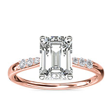 Petite Diamond Engagement Ring in 14k Rose Gold (0.07 ct. tw.)